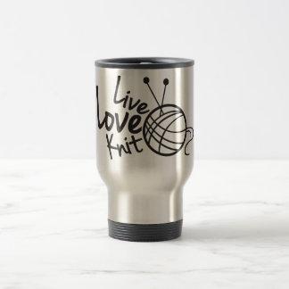 Live Love Knit | Knitting Travel Mug