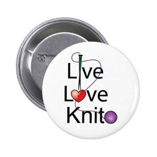 Live Love Knit Pins