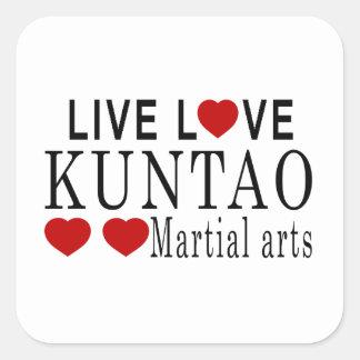 LIVE LOVE KUNTAO MARTIAL ARTS SQUARE STICKER