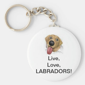 Live,Love,Labradors! Keychain