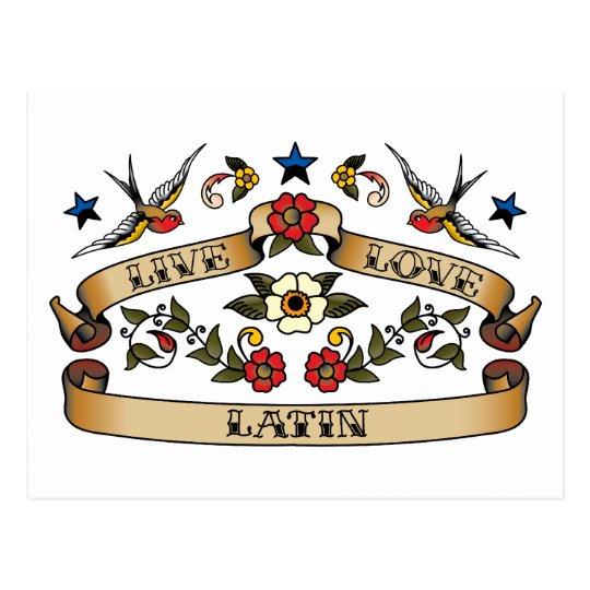 Live Love Latin Postcard