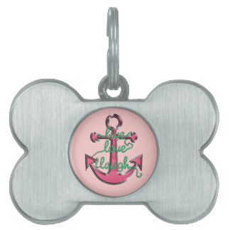 Live Love Laugh Anchor Pet ID Tags