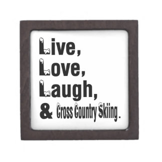 Live Love Laugh And Cross Country Skiing Premium Gift Boxes