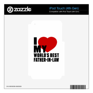 Live Love Laugh And FATHER-IN-LAW iPod Touch 4G Decal