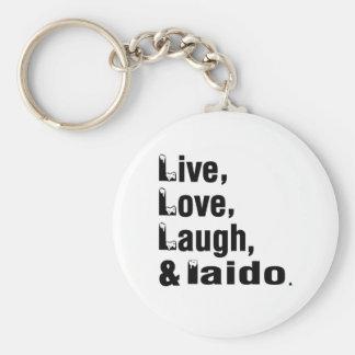 Live Love Laugh And Iaido Basic Round Button Keychain