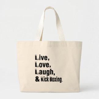Live Love Laugh And Kick Boxing Jumbo Tote Bag