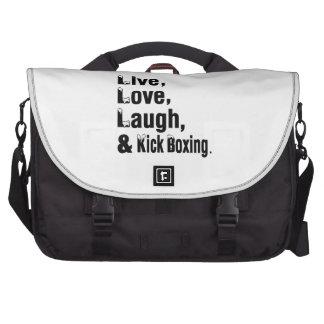 Live Love Laugh And Kick Boxing Laptop Computer Bag