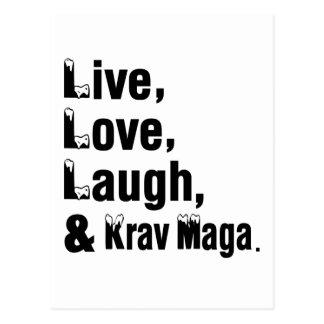 Live Love Laugh And Krav Maga Postcard