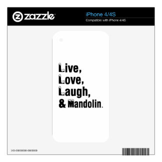 Live Love Laugh And Mandolin Decal For The iPhone 4S
