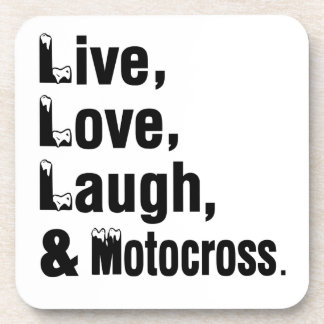 Live Love Laugh And Motocross Coasters