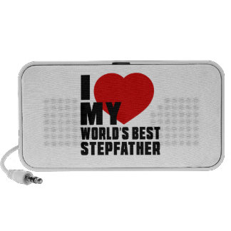 Live Love Laugh And STEPFATHER Laptop Speakers