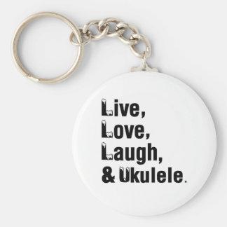 Live Love Laugh And Ukulele Keychain