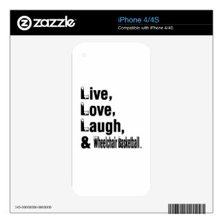 Live Love Laugh And Wheelchair Basketball iPhone 4S Skins