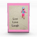 """Live Love Laugh"" Customizable photo plaque Acrylic Award"
