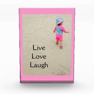 """Live Love Laugh"" Customizable photo plaque Awards"
