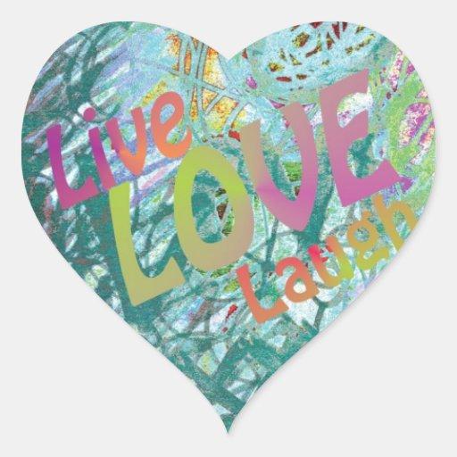 Live Love Laugh Heart Sticker