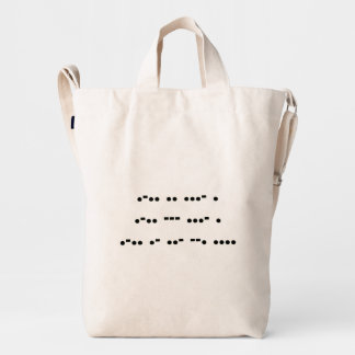 Live, Love, Laugh in Morse Code :) Duck Bag