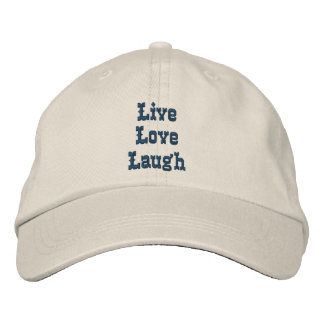 Live Love Laugh Inspirational Embroidered Hat