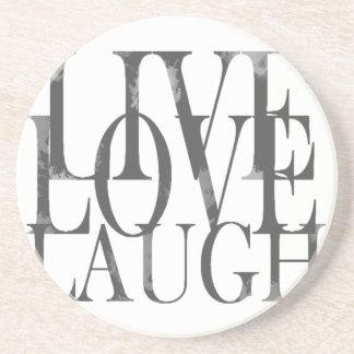 Live Love Laugh Quote Endearing Live Love Laugh Drink & Beverage Coasters  Zazzle