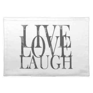 Live Love Laugh Inspirational Quote Placemat