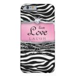 Live Love Laugh iPhone 6 case Cover Zebra Pink Hea iPhone 6 Case