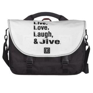 Live Love Laugh & Jive Laptop Computer Bag