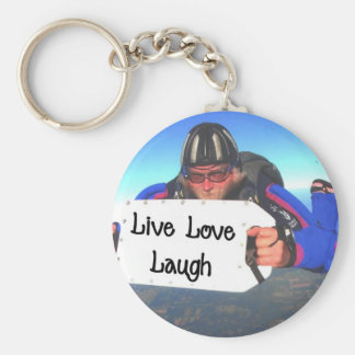 Live Love Laugh Basic Round Button Keychain
