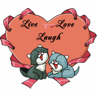 Live Love Laugh Kittys Statuette