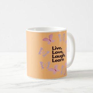 live love laugh learn coffee mug
