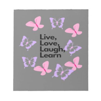 live love laugh learn notepad