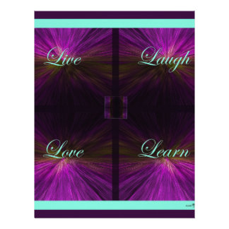Live, Love, Laugh, Learn -Purple Letterhead