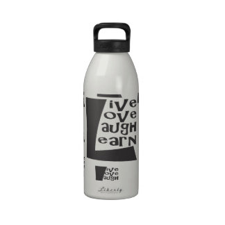 Live, Love, Laugh, Learn Reusable Water Bottles