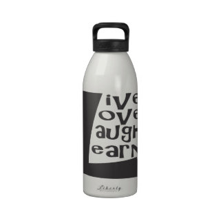Live Love Laugh Learn Water Bottle