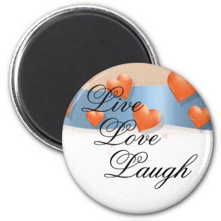 Live, Love, Laugh Magnet