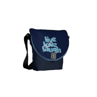 Live Love Laugh - Mini Messenger Bag