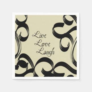 Live, Love, Laugh Paper Napkin