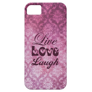 Live Love Laugh Pink Damask Patern iPhone 5 Cover