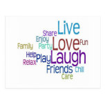 Live Love Laugh Post Card