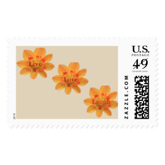 Live, Love, Laugh Postage Stamp