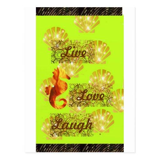 Live, Love, Laugh Postcard