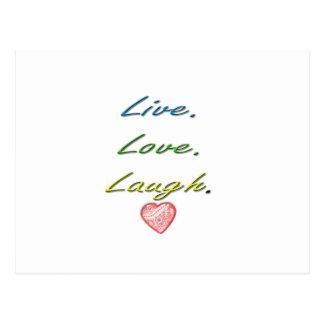 Live Love Laugh Postcards