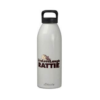 Live Love Laugh Rattie Reusable Water Bottles