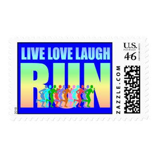 live love laugh run stamp