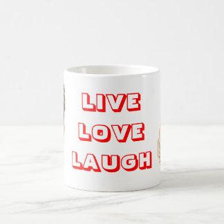 Live, Love, Laugh Sharp Pei Puppy Dog Coffee Mug