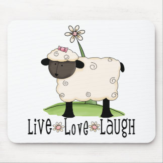 live-love-laugh-sheep mouse pad