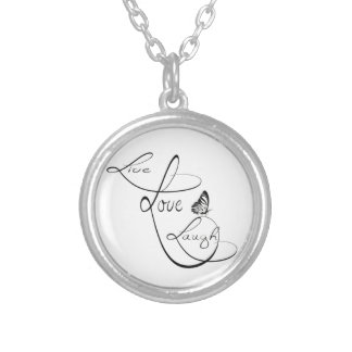 Live Love Laugh Silver Plated Necklace