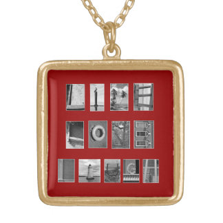 LIVE LOVE LAUGH Spelled out with picture letters Gold Plated Necklace