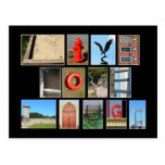 LIVE LOVE LAUGH Spelled out with picture letters Post Cards
