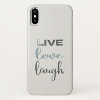 Live Love Laugh Typography iPhone X Case