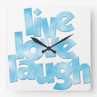 Live Love Laugh - Wall Clock